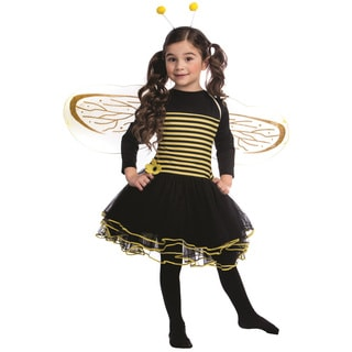 Dress Up America Girls' Bumblebee Black/Yellow Dress