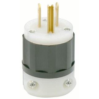 Leviton R03-5266-C 3 Wire 15 Amp 125 Volt Industrial Grade Straight Blade Plug