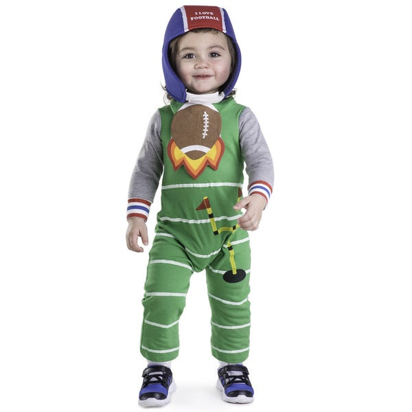 Dress Up America Baby Boys' Green Polyester Football Costume