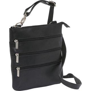 Le Donne Leather Triple-zip Crossbody Handbag