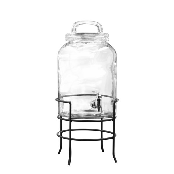 Savannah 196-ounce Beverage Dispenser with Metal Stand 19045550