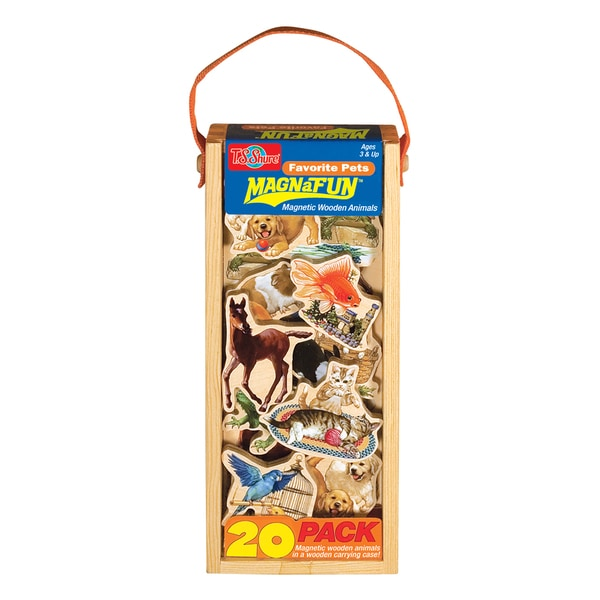 Favorite Pets Wooden Magnets 20 Piece MagnaFun Set