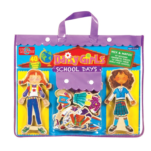 Daisy Girls School Days Wooden Magnetic Dress-Up Dolls