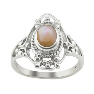 Haven Park Mother of Pearl Filigree Ring