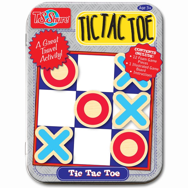 T.S. Shure Tic Tac Toe Magnetic Game Mini Tin 19045634