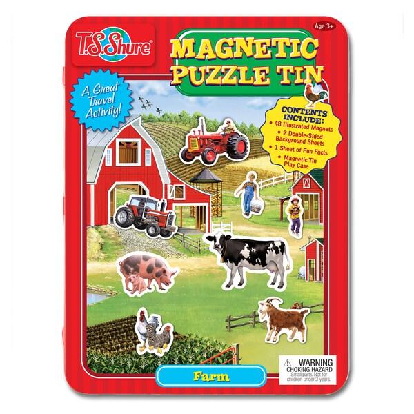 T.S. Shure Farm Magnetic Tin Play Set 19045636