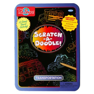 Scratch-A-Doodle Transportation Activity Tin