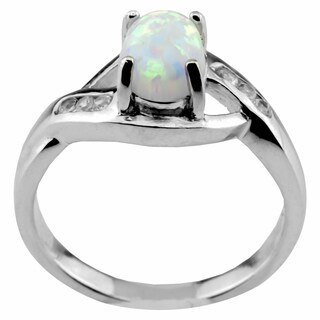 Haven Park Bypass Style Ring With Lab Created Opal