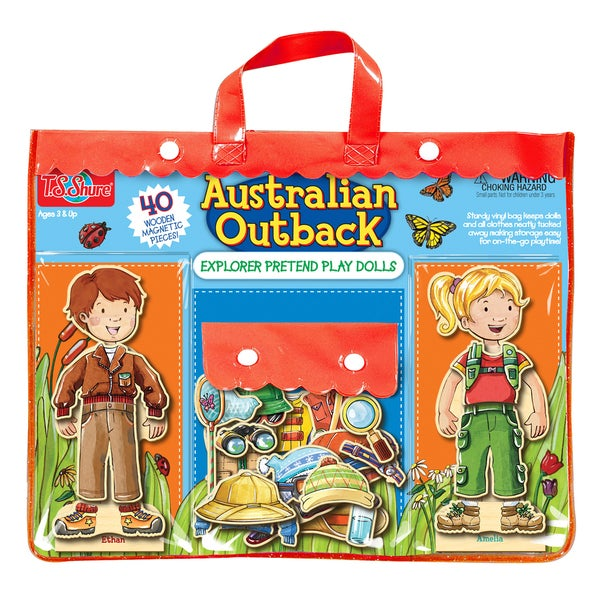 Australian Outback Explorers Wooden Magnetic Dolls