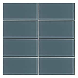 Vicci Design 3-inch x 6-inch 48-piece (6 Square Feet) Glass Subway Tile