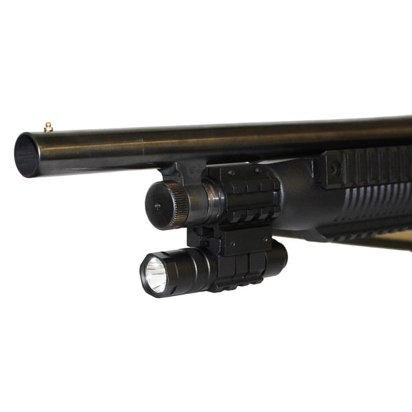Tactical Compact 150 Lumen LED Flashlight, Remote Wire & Cap Switch for 12-gauge Shotguns