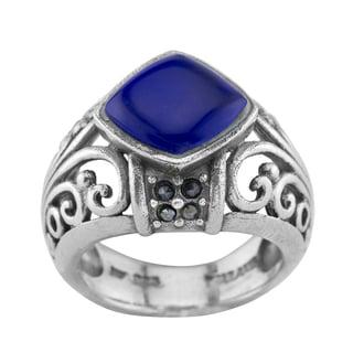 Haven Park Striking Blue Malachite Ring