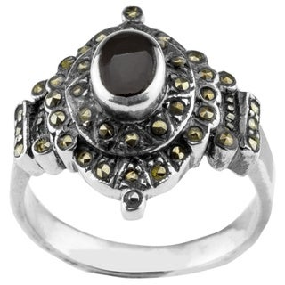 Haven Park Sterling Silver Black Onyx Ring