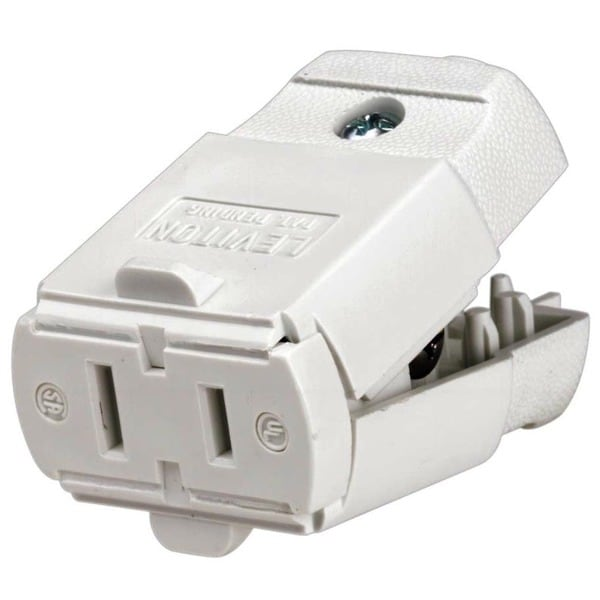 Leviton 016-00102-0WP White 15 Amp Connector