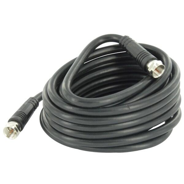 Leviton 003-C6851-12E 12' Black RG6 Coax Cable With F Plugs