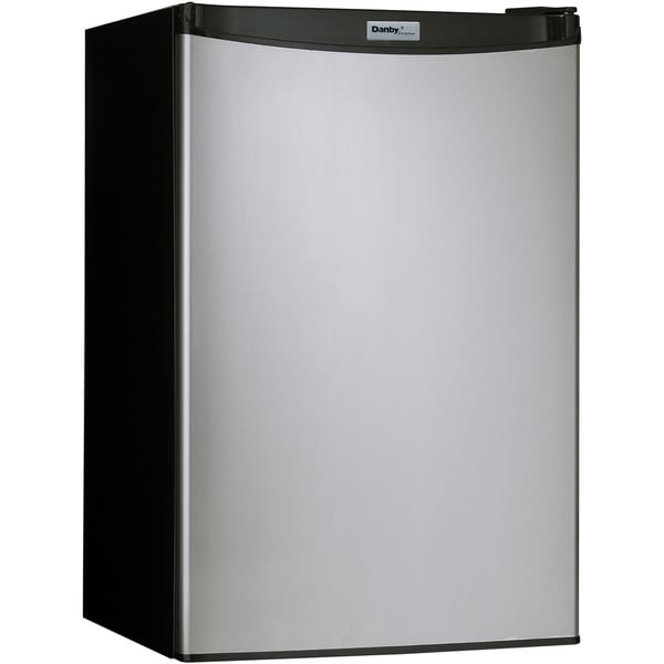 Danby DCR044A2BSLDD Black 4.4-cubic foot Designer Energy Star Compact Refrigerator/Freezer with Spotless Steel Door