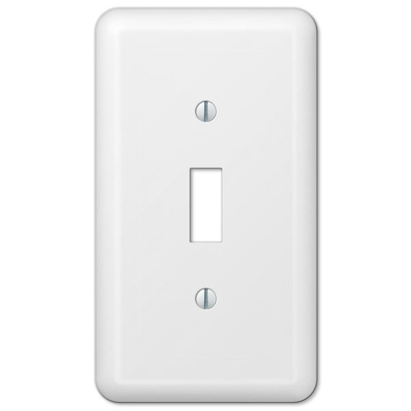 Amertac 935TW 1 Toggle Colours White Steel Wallplate