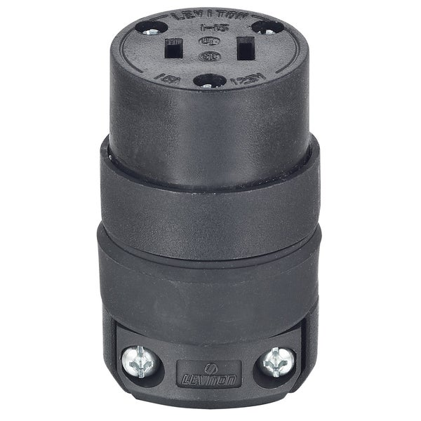 Leviton 000-115CR-000 Black Connector Plug