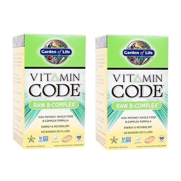 Garden of Life Vitamin Code Raw B-Complex (120 Vegan Capsules)