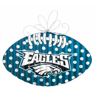 Philadelphia Eagles Metal Football Door Decor