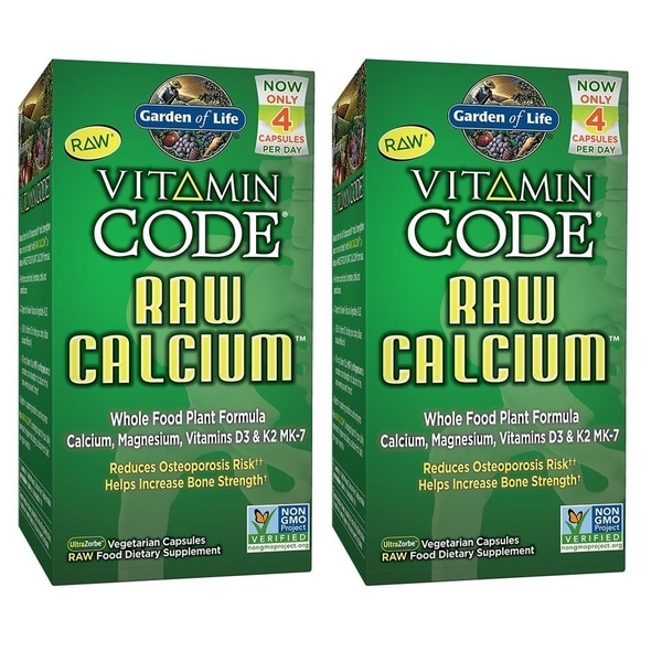 Garden of Life Vitamin Code Raw Calcium (120 Vegetarian Capsules)