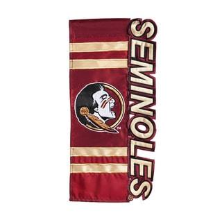 Florida State University Seminoles Applique Sculpted Flag