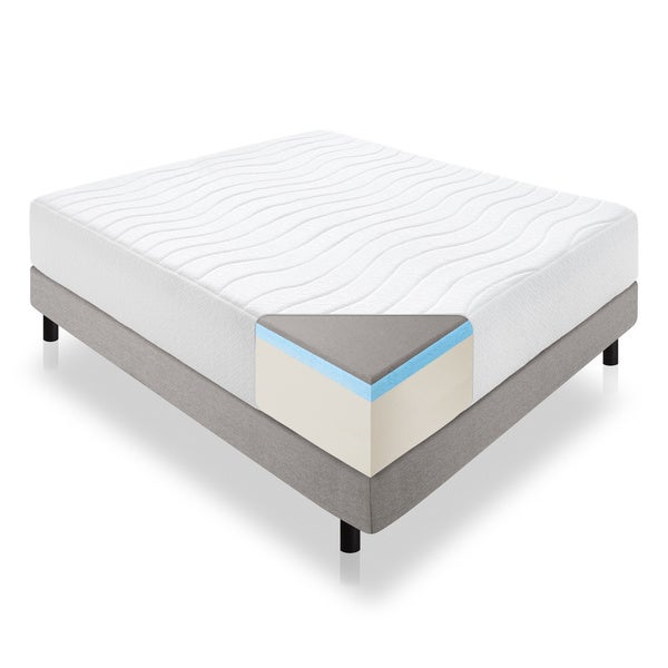 LUCID White Memory Foam 14-inch Twin XL Mattress