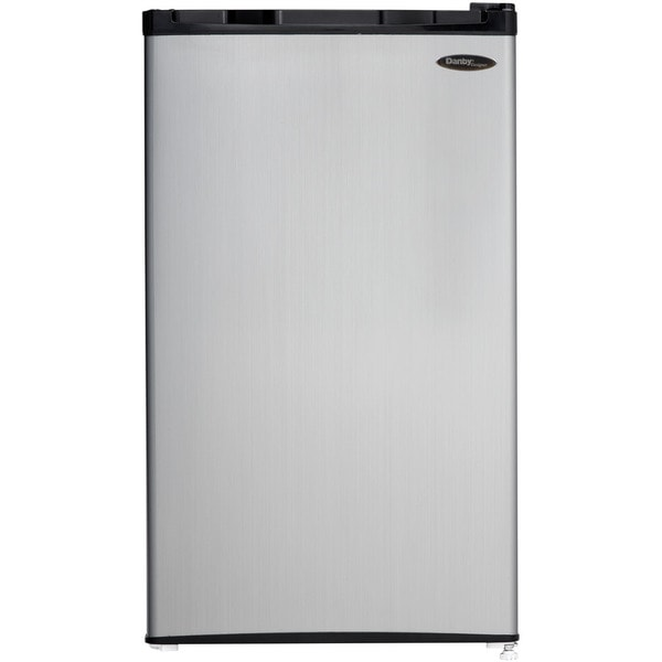 Danby DCR032C1BSLDD Black 3.2-cubic foot Energy Star Compact Refrigerator/Freezer With Spotless Steel Door