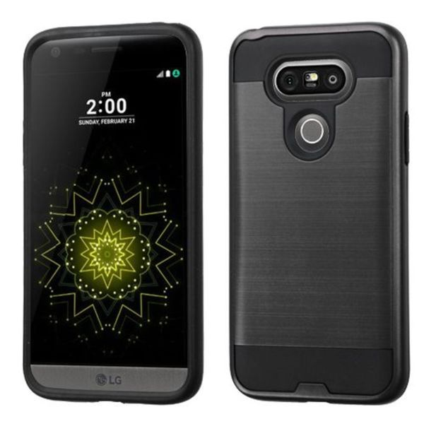 Insten Protective PC/ Silicone Dual Layer Hybrid Rubberized Matte Case Cover For LG G5