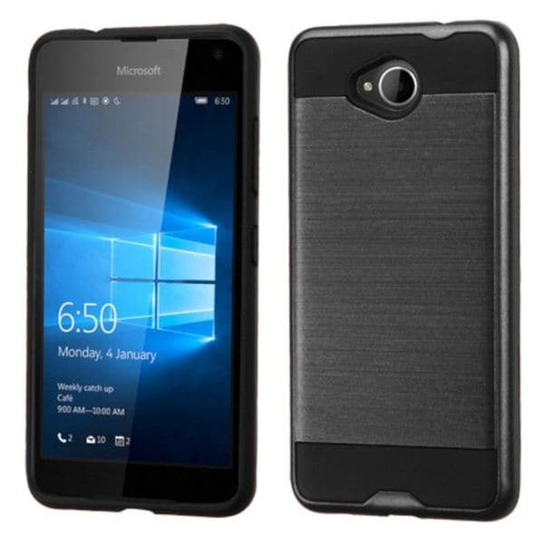 Insten Protective PC/ Silicone Dual Layer Hybrid Rubberized Matte Case Cover For Microsoft Lumia 650