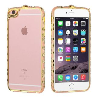 Insten Hard Snap-on Rubberized Matte Bumper Frame with Diamond For Apple iPhone 6 Plus/ 6s Plus