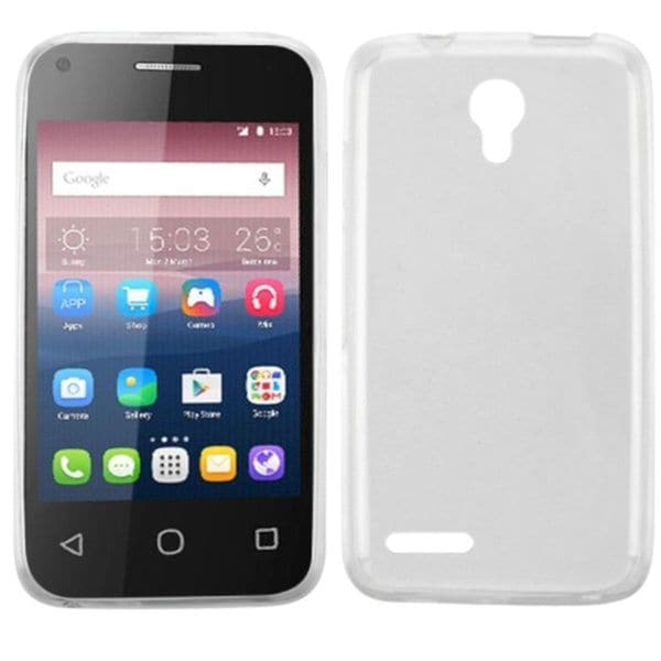 Insten Clear TPU Rubber Candy Skin Case Cover For Alcatel One Touch Pixi 4( 3. 5)