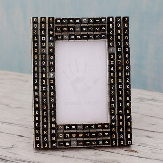 Handcrafted Upcycled 'Matrix Connection' Photo Frame (India)