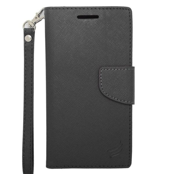 Insten Leather Case Cover Lanyard with Stand/ Wallet Flap Pouch/ Photo Display For HTC Desire 510
