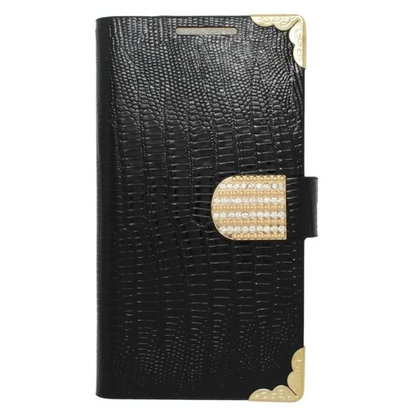 Insten Leather Case Cover with Wallet Flap Pouch/ Diamond For Alcatel One Touch Pop Astro