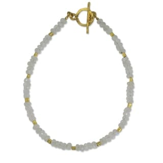Gold Overlay 'Simply Fascinating' Moonstone Bracelet (Thailand)