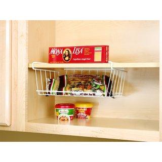 White Under Shelf Storage Bin