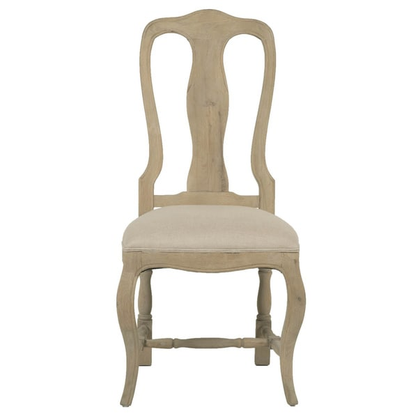 Gray Manor Lewis XV Distressed Tan Oak/Linen Dining Chairs (Set of 2)