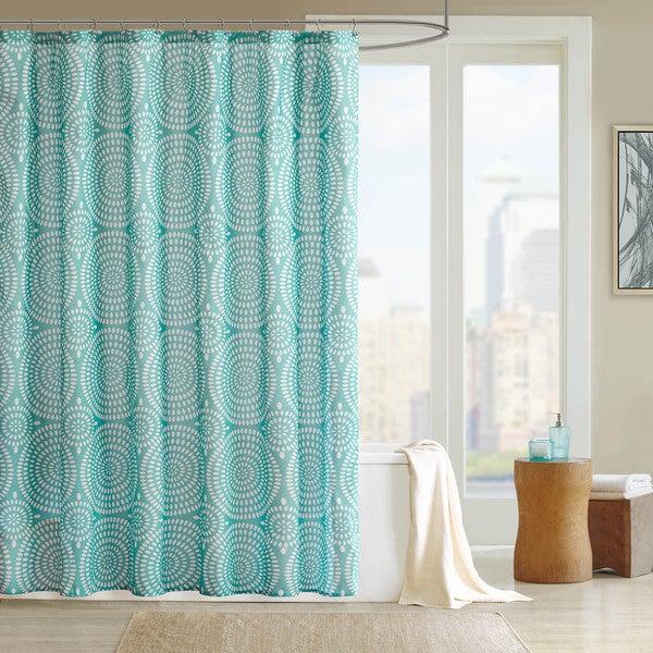 Madison Park Pandora Blue Shower Curtain