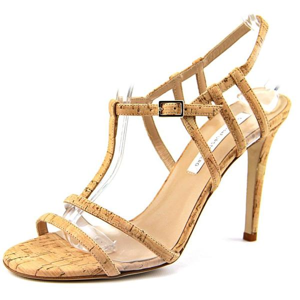 Diane Von Furstenberg Women's Viola Too Brown Leather Dress Sandals