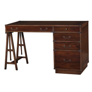 Bramble Co. Mahogany 5-drawer Antique Oak/ Teak Brown Surveyor's Desk