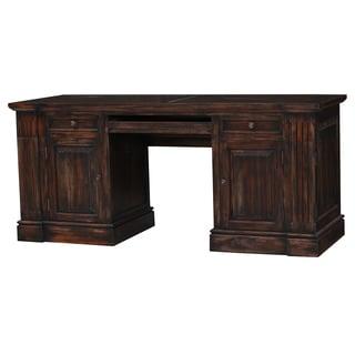 Bramble Co. Roosevelt Vintage Black Mahogany Computer Desk