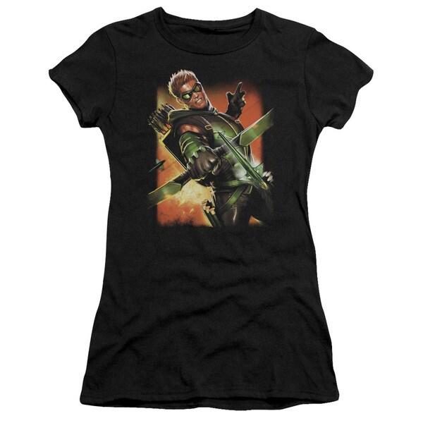 JLA/Green Arrow #1 Junior Sheer in Black