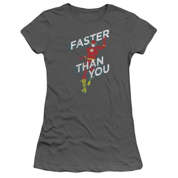 DC/Faster Than You Junior Sheer in Charcoal
