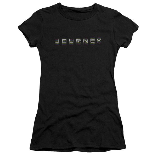 Journey/Repeat Logo Junior Sheer in Black in Black