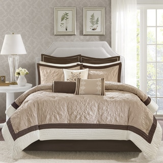 Madison Park Melanie Beige 9-piece Comforter Set