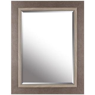 Hobbitholeco. Grey 27.25-inch x 35.25-inch Beveled Mirror