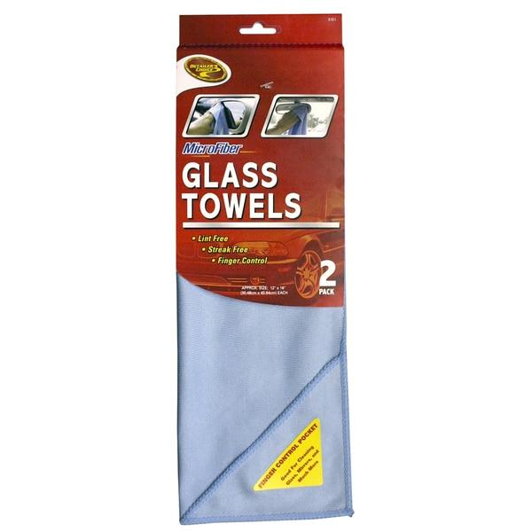 Detailer's Choice 3-511 Microfiber Glass Towel 2-count 19053725
