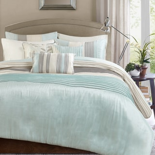 Madison Park Eastridge Aqua 6-piece Duvet Cover Set
