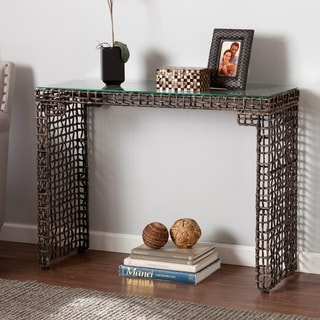 Upton Home Landers Woven Sofa/ Console Table